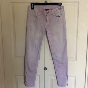 Light purple skinny jeans